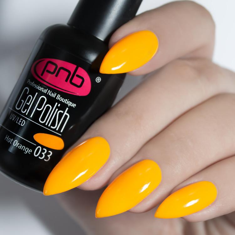 Гель-лак PNB 033 Hot Orange