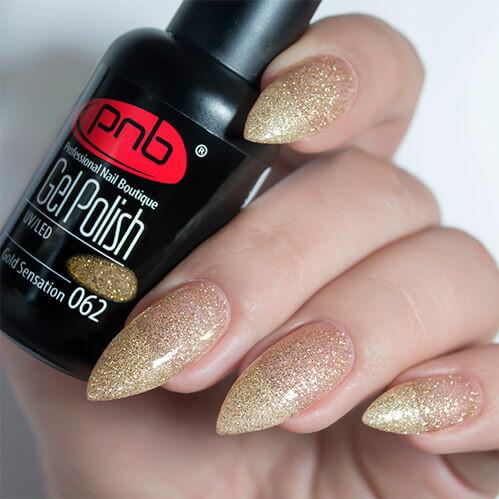 Гель-лак PNB 062 Gold Sensation