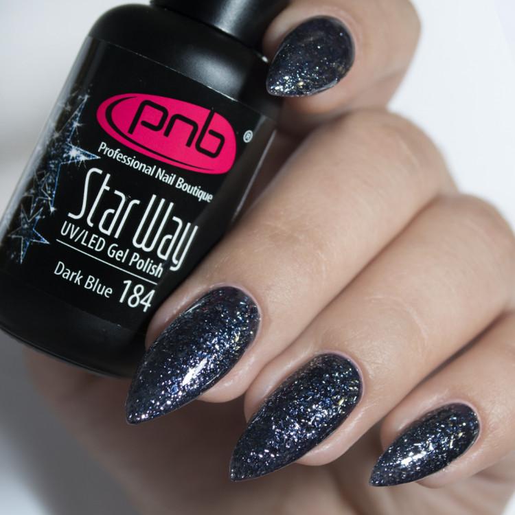 Гель-лак PNB 184 Star Way, Dark Blue