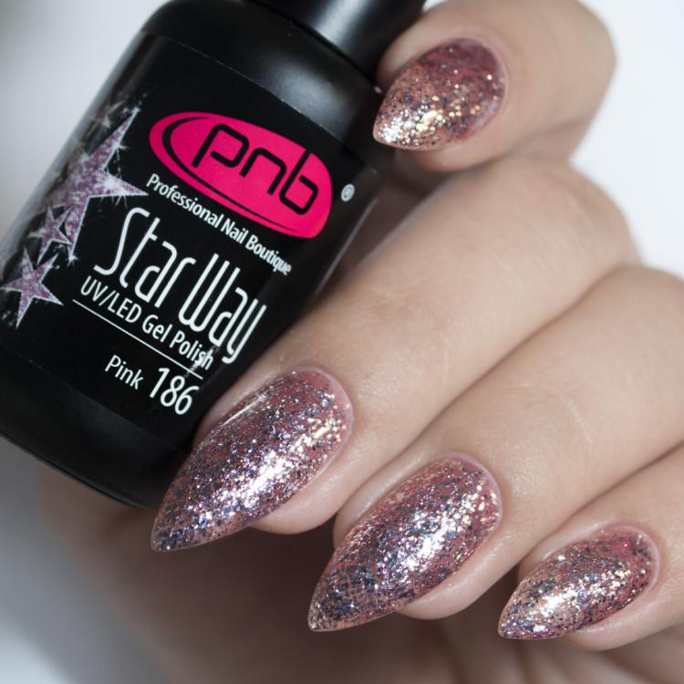 Гель-лак PNB 186 Star Way, Pink