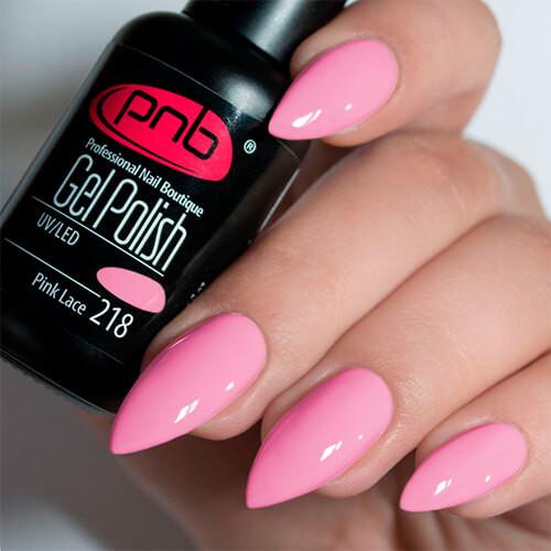 Гель-лак PNB Pink Lace 218, 8 ml