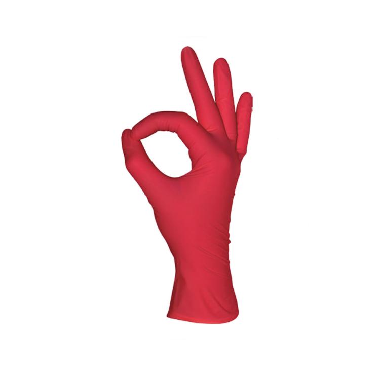 Нитриловые перчатки, красные, 50 пар, Размеры: XS, S, M, L