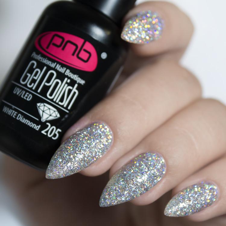 Гель-лак PNB 205 White Diamond