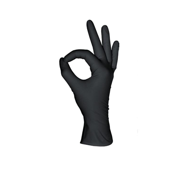 Нитриловые перчатки, черные, 50 пар, Размеры: XS, S, M, L