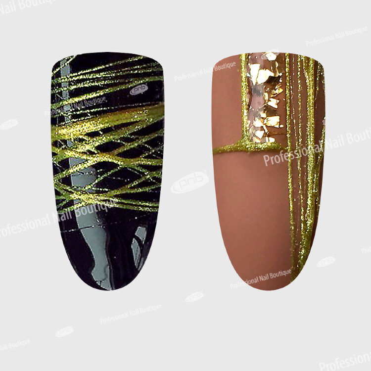 UV/LED WEB Gel Gold PNB/ Гель-паутинка золото, PNB