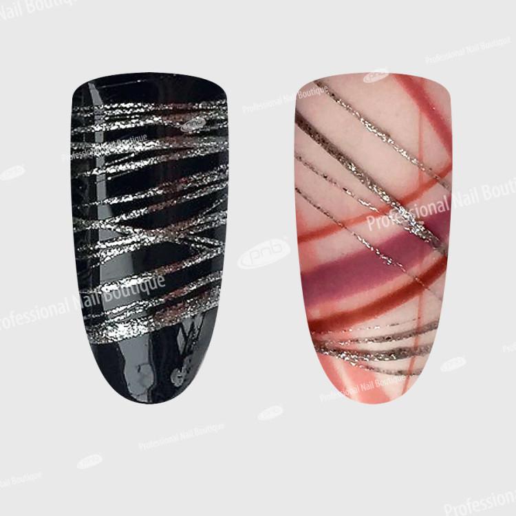 UV/LED WEB Gel Silver PNB/ Гель-паутинка серебро, PNB