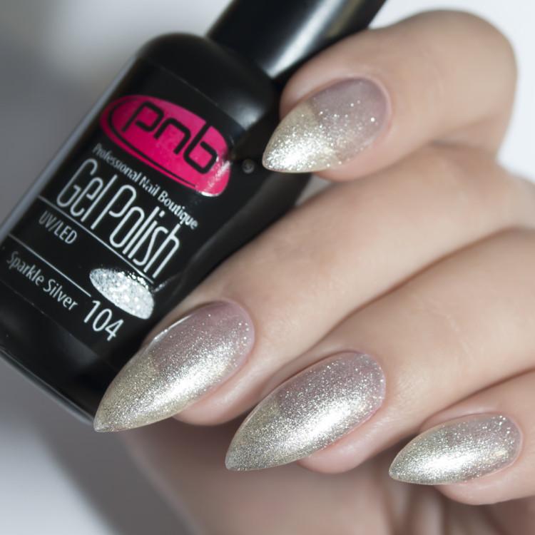 Гель-лак PNB 104 Sparkle Silver