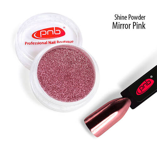 Зеркальная втирка PNB, розовая