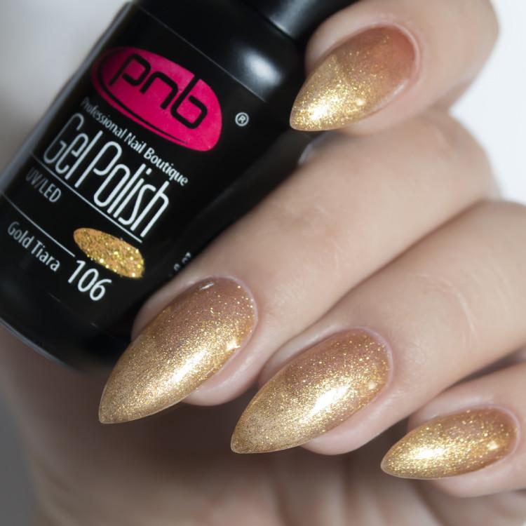 Гель-лак PNB 106 Gold Tiara