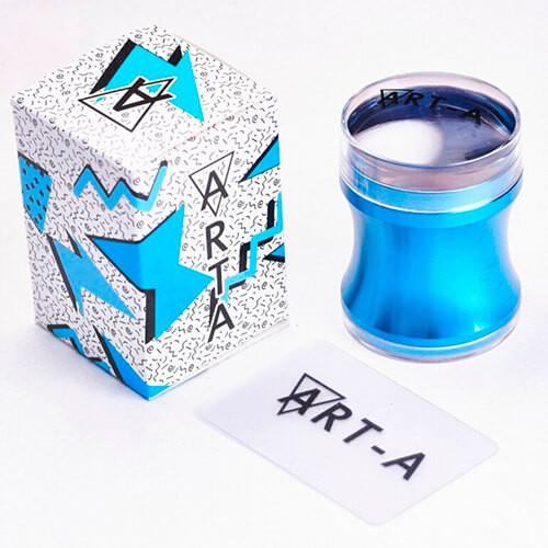 Штамп Art-A синий 3,9см + скрапер