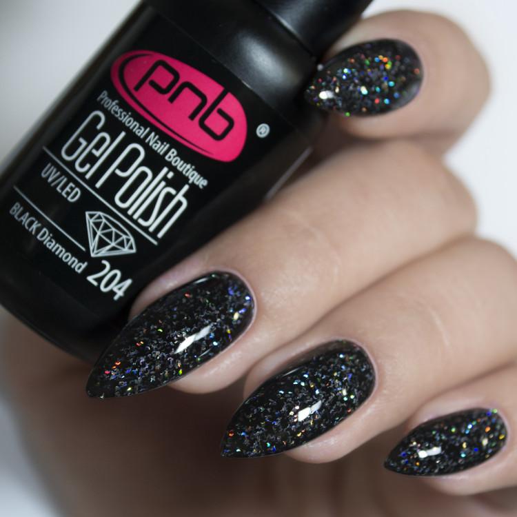 Гель-лак PNB 204 Black Diamond