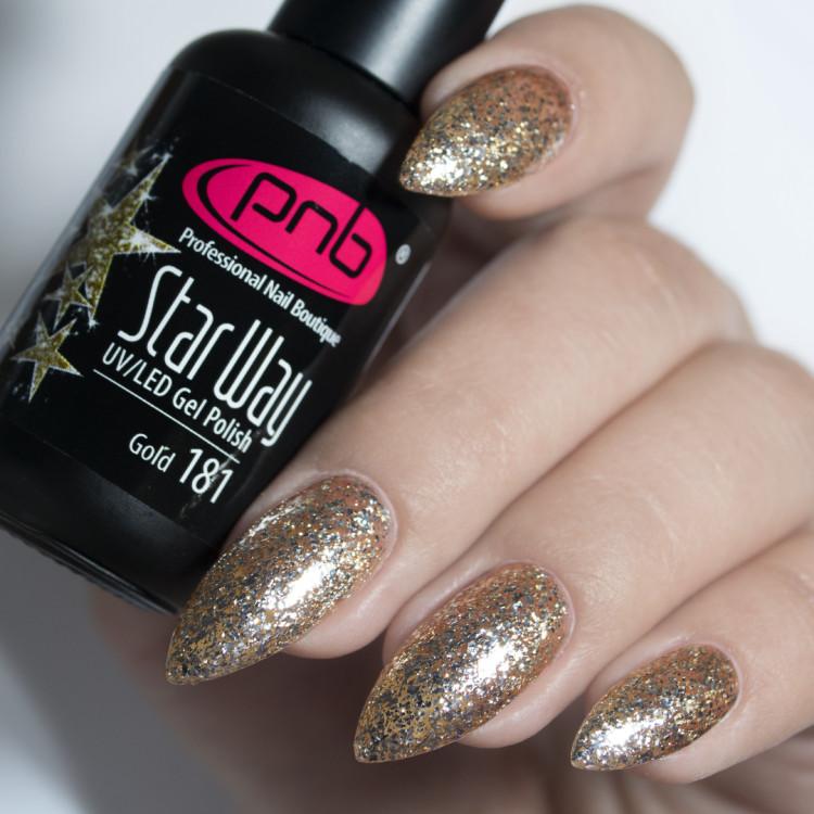 Гель-лак PNB 181 Star Way, Gold